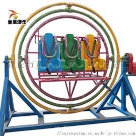 童星厂家制造生产景区游乐设备三维太空环