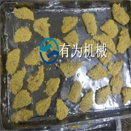 罗非鱼裹糠机定制厂家 小银鱼上糠设备SUS304