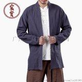 中國風唐裝棉麻男式立體盤扣舒適棉麻復古長袖男茶服