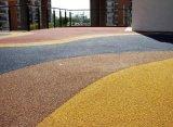供應桓石地坪HS01安徽彩色藝術道路,彩色混凝土透水地坪,露骨料混凝土地坪