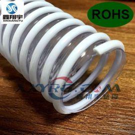 耐寒四季柔软医疗级PVC透明塑筋波纹管, 夹筋管, 厨卫下水管排水管