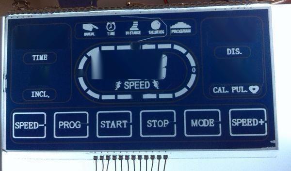 跑步机仪表用LCD液晶屏