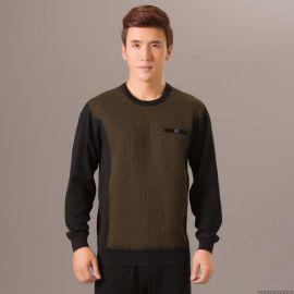 2014新款男士可外穿加厚超柔绒保暖内衣 男加绒圆领保暖内衣套装