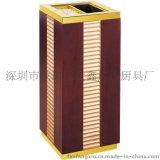 日式座地烟灰桶 酒店大堂创意木质垃圾桶价优质美