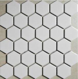陶瓷白色六角形馬賽克廠家