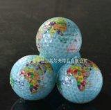 高尔夫地球仪球 透明彩色高尔夫球 中国地图球 高尔夫礼品球