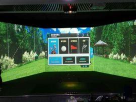 室内高速摄像模拟高尔夫