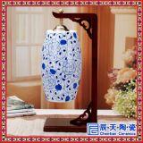 供應陶瓷精美檯燈 居家裝飾品手繪荷塘清趣陶瓷檯燈