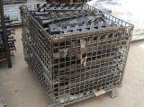 快递物流折叠式移动仓储笼 金属仓库货物仓储笼 不锈钢周转箱厂家