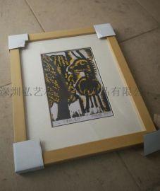 厂家直销 原木色相框 摆/挂两用实木相框 原色环保 木质相框