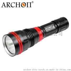 ARCHON奥瞳DY01专业潜水手电筒 **光1000流明 LED潜水灯 远射 探照 防水100米 黄光手电筒