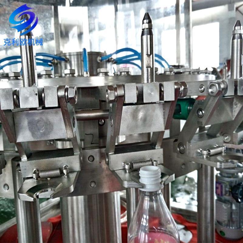 厂家定制液体灌装机械果汁灌装生产线全自动三合一饮料灌装机设备