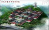 寺廟規劃平面圖|寺院平面效果圖|中國寺廟鳥瞰圖工程施工