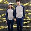 秋冬男 女學生韓版開衫外套情侶衛衣運動套裝班服情侶裝定制LOGO