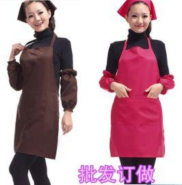 纯色围裙工作服定做餐厅服务员工作围裙美甲师发师