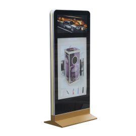 铝材型双画面广告展示灯箱 LED显示屏灯箱