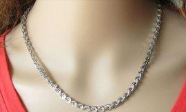 千爱 钛钢凤尾链 电镀14K金 白金 925银 不锈钢项链 时尚手链 光面凤尾链 厂家直销批发