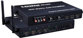 SFX高清4KHDMI矩阵 4X2 Wifi HDMI 4K 带功放矩阵可一件代发