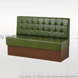 定做皮制卡座沙发,简约茶餐厅沙发卡位,沙发订做厂