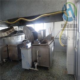 花生米油炸锅设备 全自动刮渣花生米油炸锅