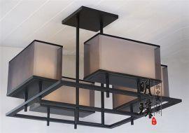 中式吸顶灯 方形布艺中式吸顶灯 卧室客厅中式吸顶灯厂家