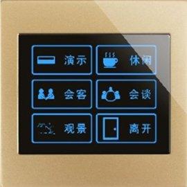开关面板、C系列可编程控制面板(6键)、智能照明控制系统、酒店客房控制系统、保乐智能