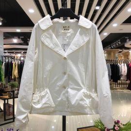 维姿诺16年冬装纯色大件外套 品牌折扣女装一手尾货