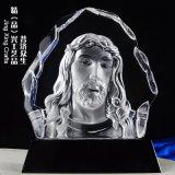 耶穌普度衆生水晶擺件 宗教節日禮拜活動水晶擺件定製