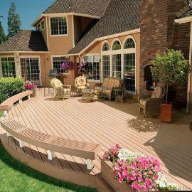 防水,防腐,    可回收和益塑木装饰地板