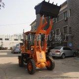 厂家现货供应小型装载机铲车柴油四轮轮式抓木抓草机