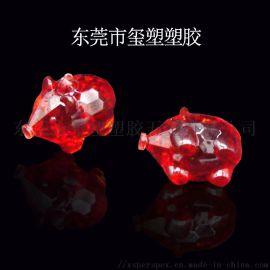 透明小猪动物水晶饰品亚克力工艺品厂家