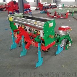 周口悬浮式四轮车牵引式手推玉米播种机图片