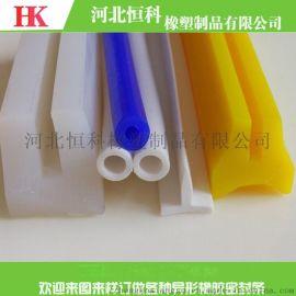 高温硅胶条 食品级 医疗级透明高温硅胶密封条
