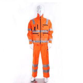 思夫迪廠家供應搶險救援反光服 高能見度服 高可視服裝 熒光服