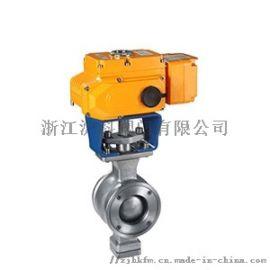 供应电动V型对夹球阀生产厂家