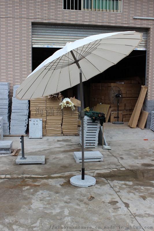 定製24骨中柱太陽傘、戶外庭院傘、帶轉向遮陽傘