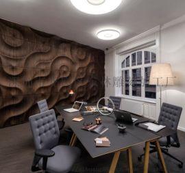 承接定制波浪板工装墙面装饰形象墙造型板雕刻板