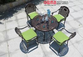 广州厂家直供户外休闲舒适耐用铸铝欧式桌椅