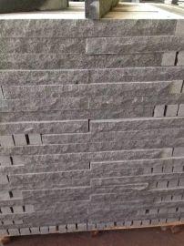 芝麻灰石材背景牆園林酒店外牆背景牆