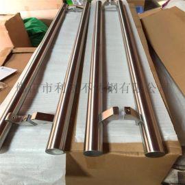 供应玻璃门大门拉手定制异形不锈钢拉手