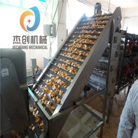 供货商 自动排渣豆干油炸机 多功能油水式豆干油炸线