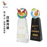 广州水晶琉璃奖杯 企业表彰会水晶琉璃奖杯