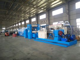 厂家直销高速拉丝机塑料挤出平膜扁丝机组