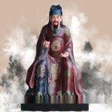 药王孙思邈坐虎诊龙、药王菩萨像、十大名医雕塑、