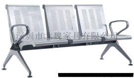 钢制连排椅-电镀钢制公共连排椅-不锈钢联椅