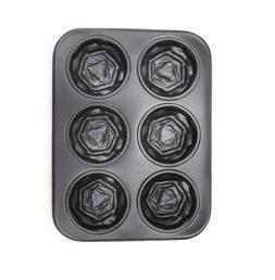6孔大玫瑰碳鋼蛋糕模 (TR-FF10)