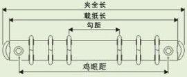 6孔文具铁夹子(TR216-6-20/20)