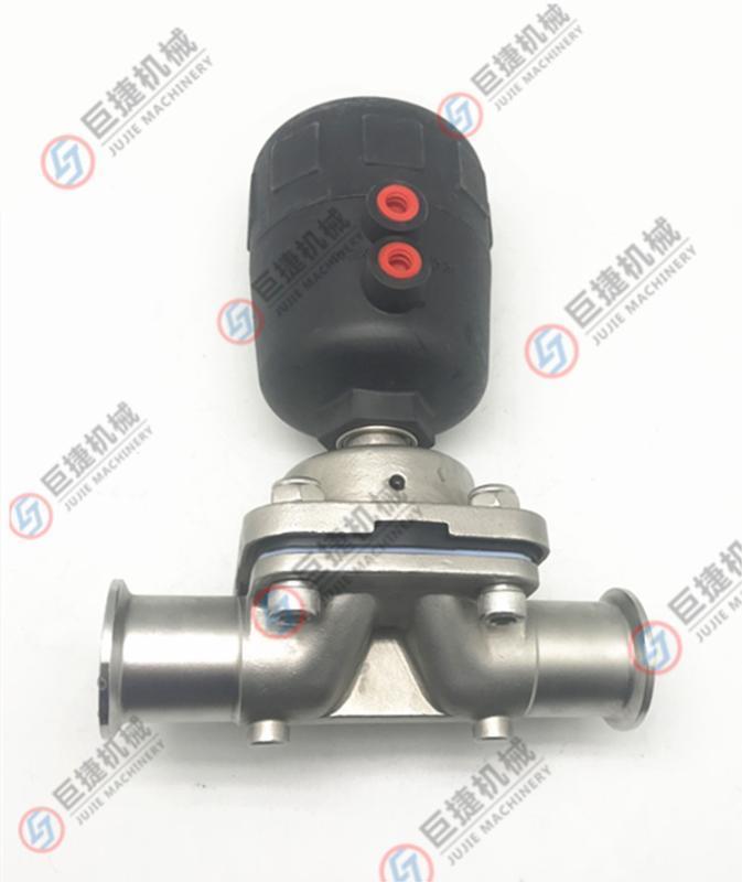 316L气动隔膜阀卫生食品医药级盖米型隔膜阀镜面无滞留气动隔膜阀