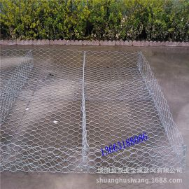 供应镀锌格宾网 包塑雷诺护垫 边坡河道绿滨网垫