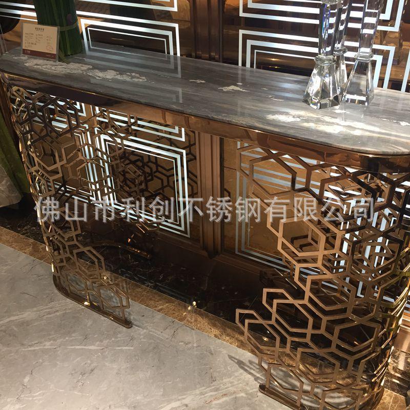 厂家定制KTV桌子量贩茶几娱乐会所不锈钢发光定制欧式茶几不锈钢